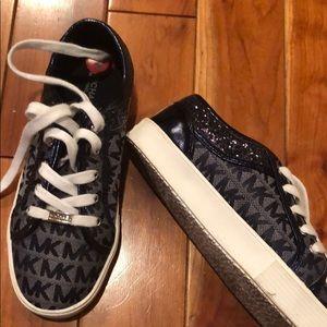 Michael Kors kid sneakers/navy blue